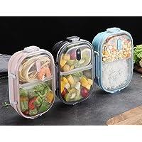OldPAPA Boîte à bento pour Les Enfants Acier Inoxydable Étanches Bento boîte à déjeuner avec 2 Compartiments Conteneur…