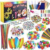 Caydo Fournitures d'art et d'artisanat pour Enfants, 1200 pièces Jouets éducatifs Set Comprenant des Cure-Pipes, des…