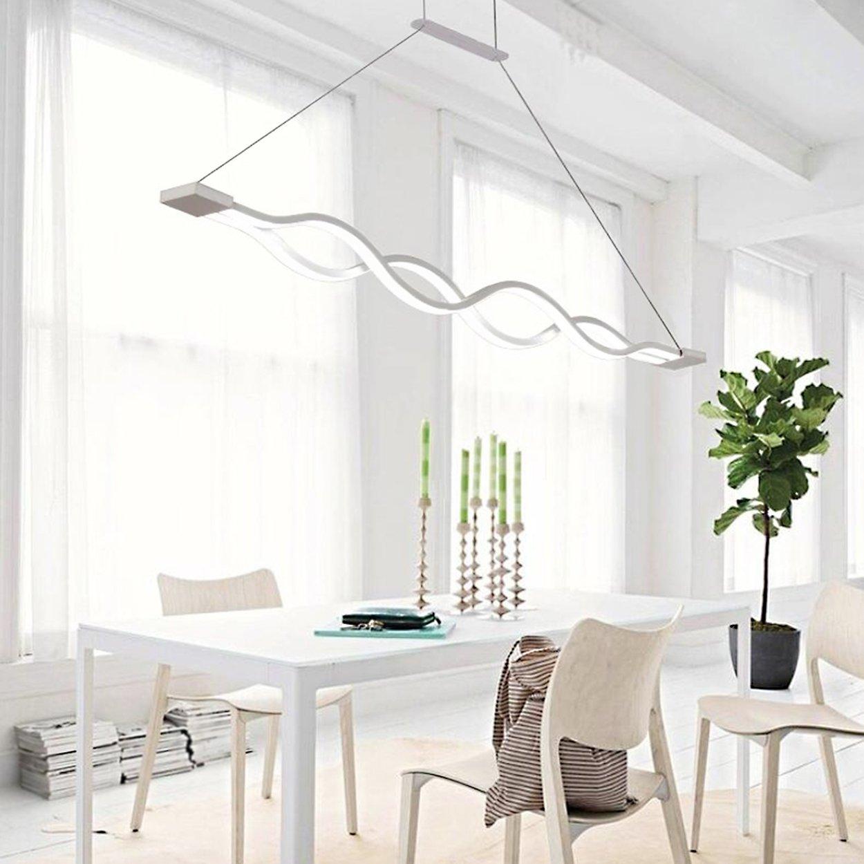 Great Kjlars Led Esstisch Hngeleuchte Wohnzimmer Kche Moderne Aluminium  Hngelampe Pendellnge Maximum Cm With Wohnzimmer Hngeleuchte
