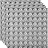 Lekebaby Lot de 6 Plaque de Base Compatible avec Les Plus Grandes Marques, 25.5x25.5cm, Gris