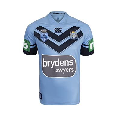 87ebe09b233 Canterbury NSW State Of Origin 2018 Home Rugby League S/S Shirt - Light  Blue: Amazon.co.uk: Clothing