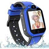 PTHTECHUS Smartwatch voor kinderen, waterdicht IPX7, ondersteunt 4G GPS nauwkeurige positionering tracker, met SOS, videogesp