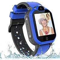 PTHTECHUS Kinder Smartwatch Wasserdicht IPX7, unterstützt 4G GPS Präzise Positionierung Tracker, mit SOS, Videoanruf…