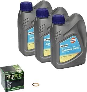 Gulf Power Trac 10w 40 Oil Filler Kit For Suzuki Sv 650 S Build Date 99 10 Hiflo Oil And Oil Shaft Seal Crankshaft Auto