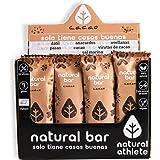 Barritas Energéticas BIO Cacao Natural Athlete, Sin Azúcar Añadido, 100% Natural y Orgánicas, Sin Gluten, Vegana -Pack 12x40