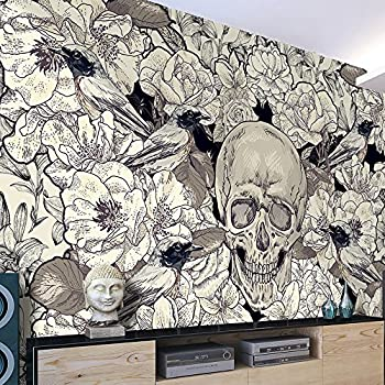 skulls wallpaper by barbara hulanicki
