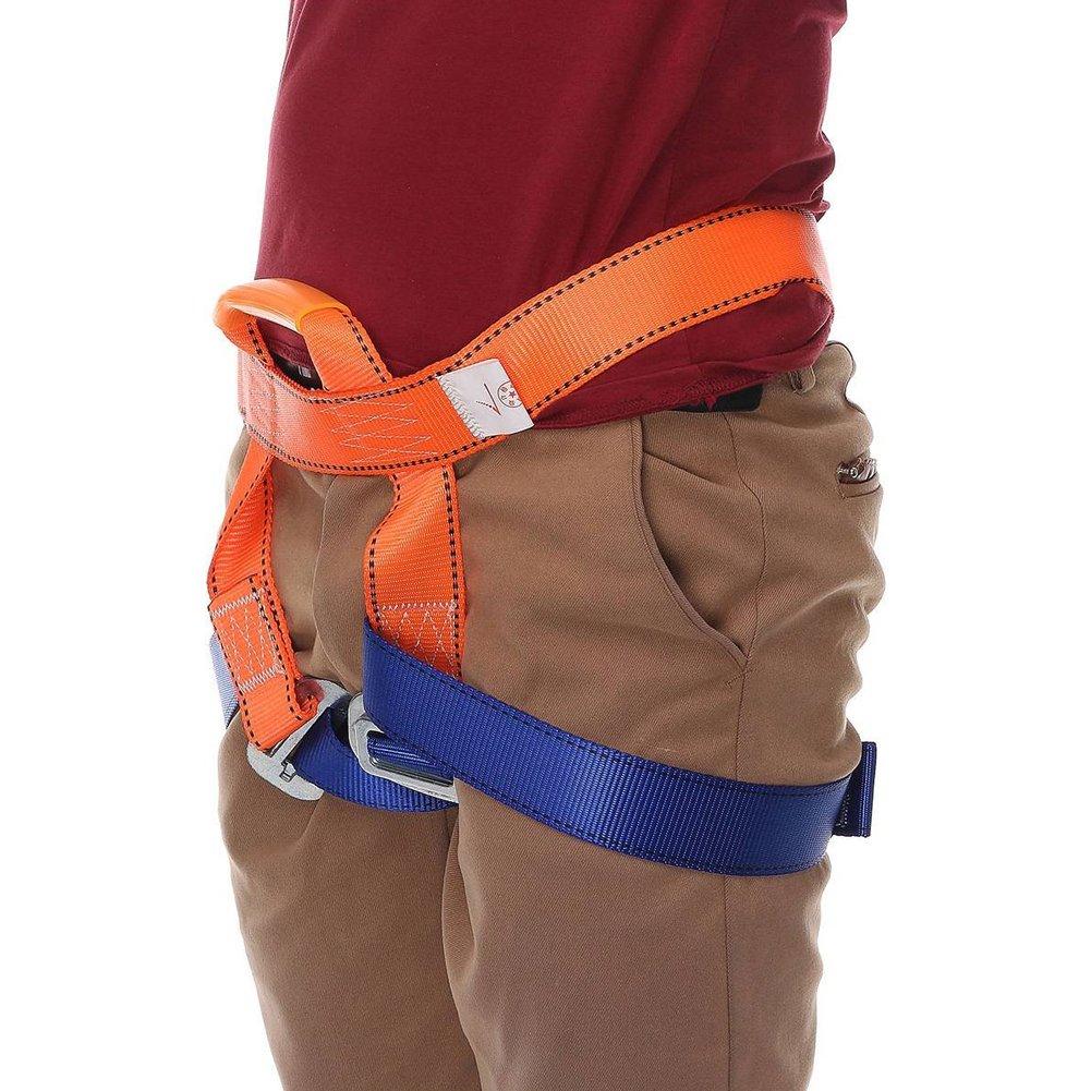 Woopower Cinturón de seguridad para cinturón, al aire libre, árbol de rock, escalada, rescate, cinturón de seguridad, arnés para el pecho, protección de la cintura, equipo de rascado, kit de velocidad