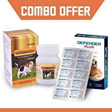 Medfly Vitaboost and Defender Plus - Combo Pack of 60 Flavored Vitamin Chewable Tablets + 10 Dewormer Tablets