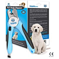 HANK Pet Nail Cutter Claw Clippers | Dog Cat toenail Trimmer Grinder | Provide Safety Lock - Guard | Pet Grooming Scissors Tool | Suitable Small to Large Breed (Blue) - by HankPets