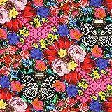 Fabulous Fabrics Melli Mello Agaat Bamwollstoff — Meterware ab 0,5m — zum Nähen von Kissen und Tagesdecken, Vorhängen und Accessoires