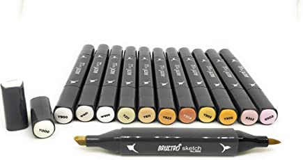 Brustro Artists' Sketch Markers Skin Tone (Set of 12 Shades)