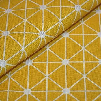 Canvas-Stoff Geometrisch gemustert Baumwolle Meterware - gelb mit ...
