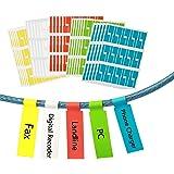 Étiquette de câble, ZoomSky 750 Pcs Identification Câble Auto-adhésif Marqueur Câble Étanche Étiquettes Résistant à la Déchir