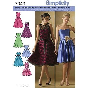Vogue VGE 8997 A5 (6-8-10-12-14) Schnittmuster zum Nähen, Elegant ...