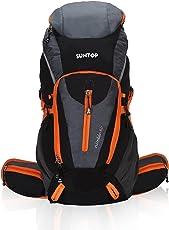 Suntop Nimble Nylon and Polyester Black and Orange 60 L Trekking Rucksack