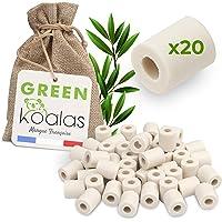 Green Koalas X20 Perles Céramique EM Grises aux Micro-Organismes Efficaces Billes Purificateur Naturel pour Filtration…