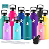KollyKolla Insulated Water Bottle, Stainless Steel Vacuum Drinks Bottles - 350/500/600/750ml/1L - Leakproof Hot/Cold…