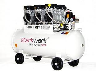Starkwerk Silent Druckluft Kompressor SW 477/8 Ölfrei 100L Kessel Flüster Kompressor