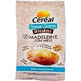 Céréal Madeleine Integrali al Miele, Merendine dolci Senza Glutine, Senza Lattosio, Senza Latte, 6 merendine - 170 g