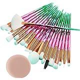 99L'amour Pinceau de maquillage diamant,Professional Maquillage Set de brosse Maquillage Kit de Toilette Set de Brosse(20 pièces+1 beau cadeau)