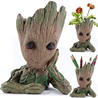 Eitheo Cute Baby Groot Model Action Figure PVC Pen Stand Cum Flower Pot Planter