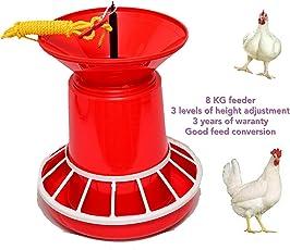 Praish Plastic Semi Automatic Nova Feeder, 4.5kg (Red, Praish)