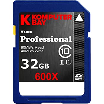 Komputerbay 32Go SDHC Secure Digital High Class Vitesse Capacité 10 UHS-I 600X Ultra High Speed Carte mémoire flash 40 Mo/s Ecriture 90 Mo/s Lire 32 Go