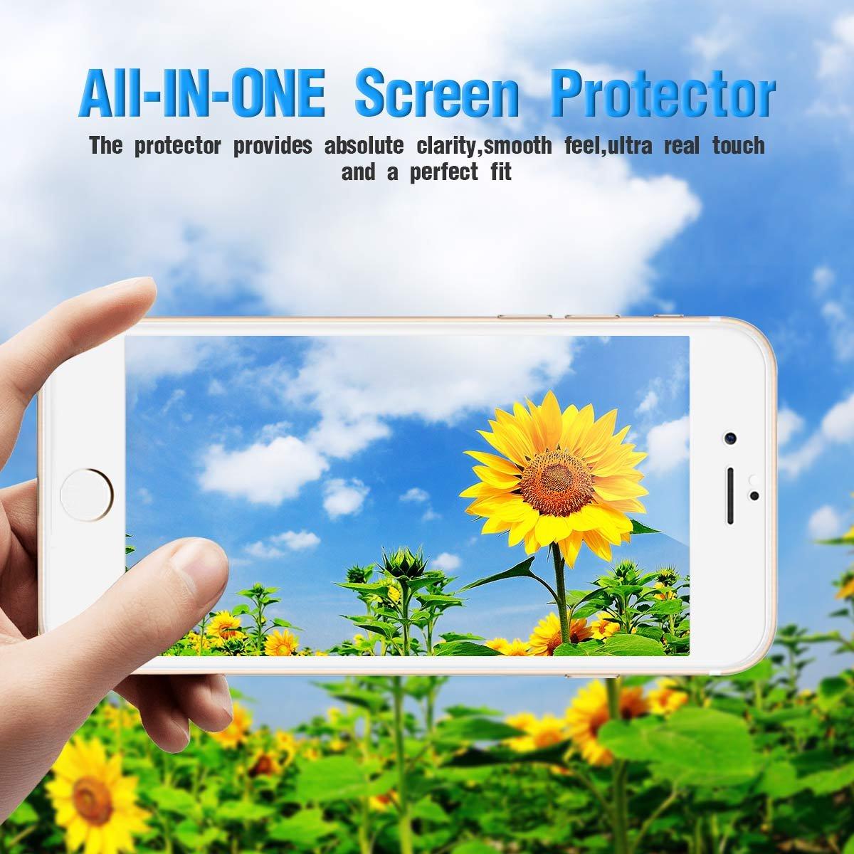 8168f430790 CRXOOX Protector de Pantalla para iPhone 7 Plus/iPhone 8 Plus Cristal  Vidrio Templado ...