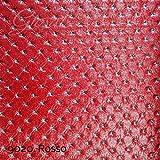 Stoff Kunstleder gesteppt Meterware Kunstleder Bezug Kollektion giosal Al metro rot
