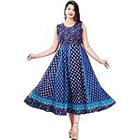 G For Girl Women's Cotton Anarkali Long Kurti