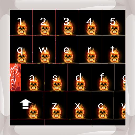 Flammende Schädel-Tastaturen