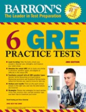 Barron's 6 GRE Practice Tests, 3rd Edition