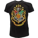 T-Shirt Camiseta BLASON Armas de Colegio Hogwarts Harry Potter - 100% Oficial Warner Bros (XS 12-14 Años)