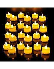 Fabgirl Plastic LED Tea Light Candles (White) -Pack of 24