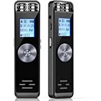 Dictaphone Numérique,ADOKEY 8G Enregistreur numérique Magnétophone,Rechargeable Micro enregistreur Audio Vocal Numérique Voice Recorder,Lecteur Mp3/A-B Répète,Conférences / Interviews/Classe