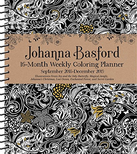 Johanna Basford Coloring 2018-2019 Calendar