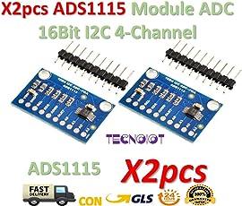 2pcs ADS1115 Module ADC Module 16Bit I2C 4-Channel ADS 1115 | 2 stücke Modul Ads1115 16 Bits ADC I2c 4 Kanäle Mit Gain Verstärker Für RPI Arduino