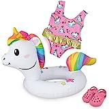Heless- Set de natación para muñecas, unicornio Henri, Color carbón, Größe 35-45 cm (66)