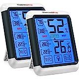 ThermoPro TP55 2 Piezas Termómetro Higrómetro de Interior para Casa Ambiente Medidor de Temperatura y Humedad Digital Termohi