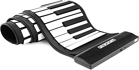 Funkey RP-61M Rollpiano mit MIDI (61 Tasten, USB MIDI) Schwarz