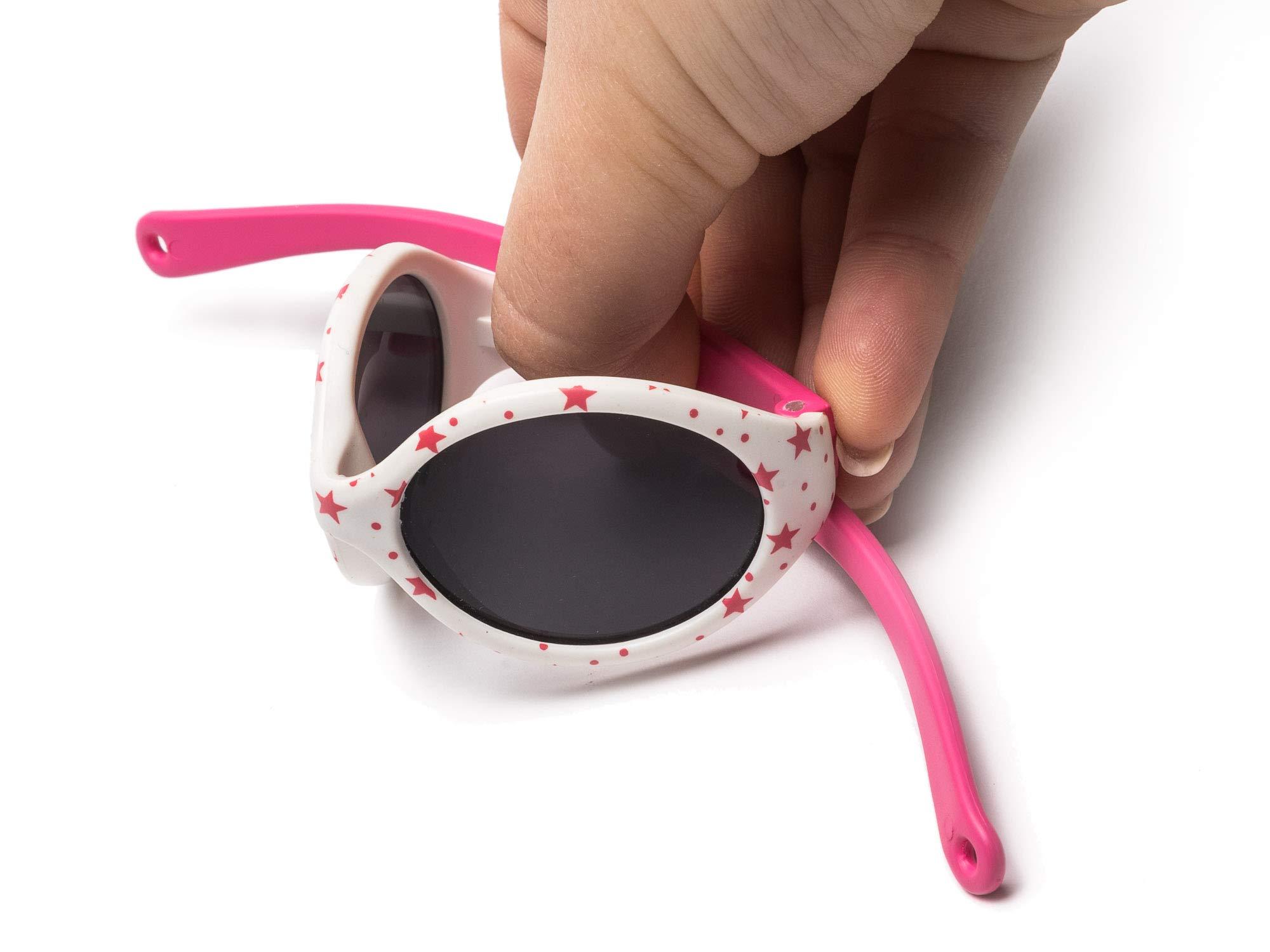 Kiddus Gafas de sol POLARIZADAS bebe para niños y niñas a partir de 6 meses. SUPER FLEXIBLES. Protección solar UV400… 4