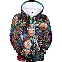 OLIPHEE Sweats Capuches Homme 3D Impression Hoodies Pullover Drôle