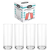Lay-Z-Spa BWA0009 Premium Tumblers, Virtually Unbreakable Ultra Clear Glasses, Reusable and Dishwasher Safe, Ideal for…