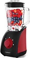 Aigostar Pomegranate 30JDF - Standmixer Smoothie Maker 750 Watt Leistung, 1.5L Glas-Behälter, Ice crush,Ideal für Smoothies, Milchshakes und Suppen breiten.