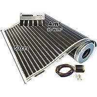 Calorique Film chauffant infrarouge pour chauffage au sol électrique, 50cm 90W/m² - Dimensions 0,5–20,0m², 230.00 voltsV