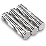 Neodym Magnete Stark 60 Stück Kühlschrank Magnete Klein für Whiteboard Pinnwand Magnettafel bänder Mini Magneten Rund 10…