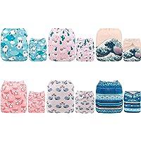 Alva Baby - Pannolini lavabili e riutilizzabili in tessuto, 6 pz, 12 inserti 6DM38