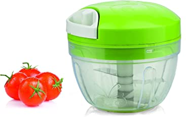 IKARUS Plastic Handy Chopper with 4 Blades (Multicolour, 4inch)