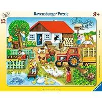 Ravensburger - 06020 - Puzzle Enfant avec Cadre - Qui Va avec Quoi - 15 Pièces