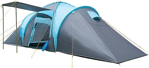 skandika Hammerfest 6 Personen Camping Zelt, mit 2 Sonnendächer, mit/ohne eingenähtem Zeltboden